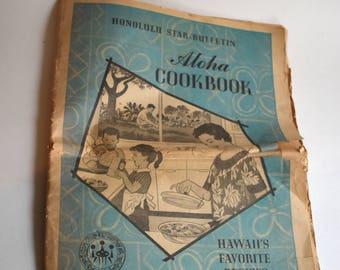 Vintage Honolulu Star Bulletin Aloha Cookbook, Star-Bulletin