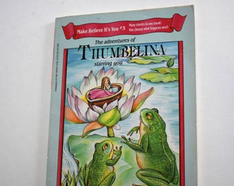 Vintage Children's Book, The Adventures of Thumbelina