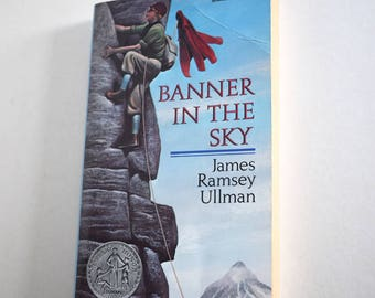 Vintage Children's Book, Banner in the Sky