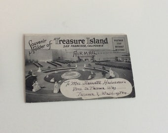 Vintage Post Card Booklet, Treasure Island, San Francisco