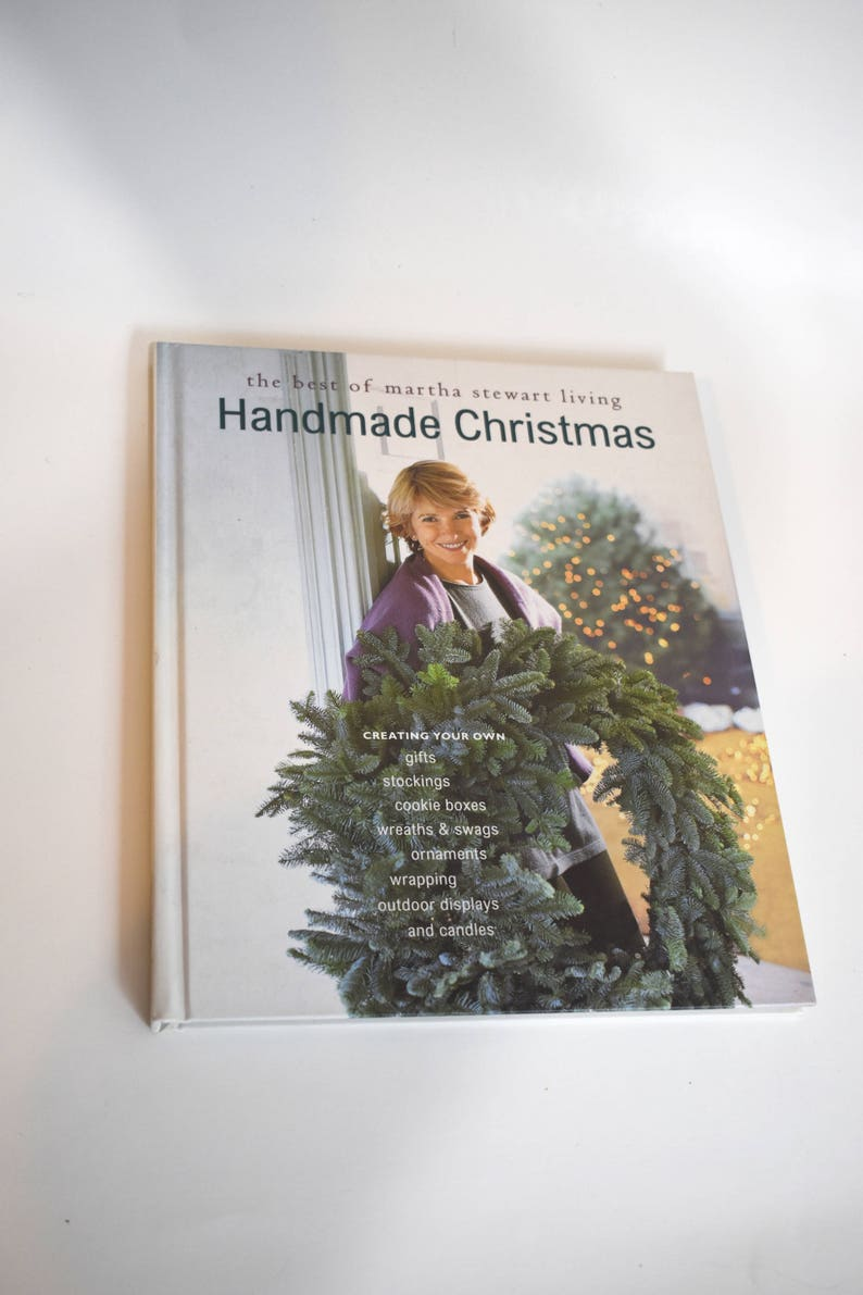 Vintage Book The Best Of Martha Stewart Living Handmade Christmas