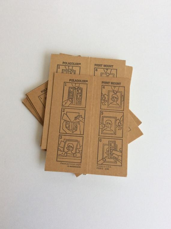 Lot of 4 Polacolor Print Mounts