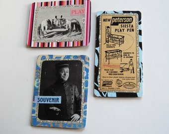 Vintage Magnets, Fridge Art