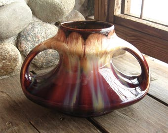 Vintage Pottery Vase from Belgium, Arts and Crafts Style Pottery, Circa 1920s, Gorgeous Drip Glaze
