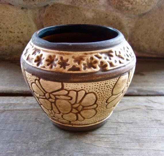 Weller Pottery Claywood Vase Antique American Art Pottery Etsy
