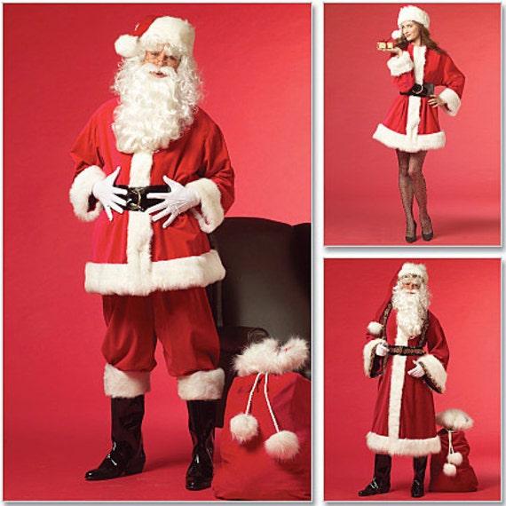 Bag and 25 Santa Doll New Uncut McCall/'s Costumes Sewing Pattern Santa Claus Costume