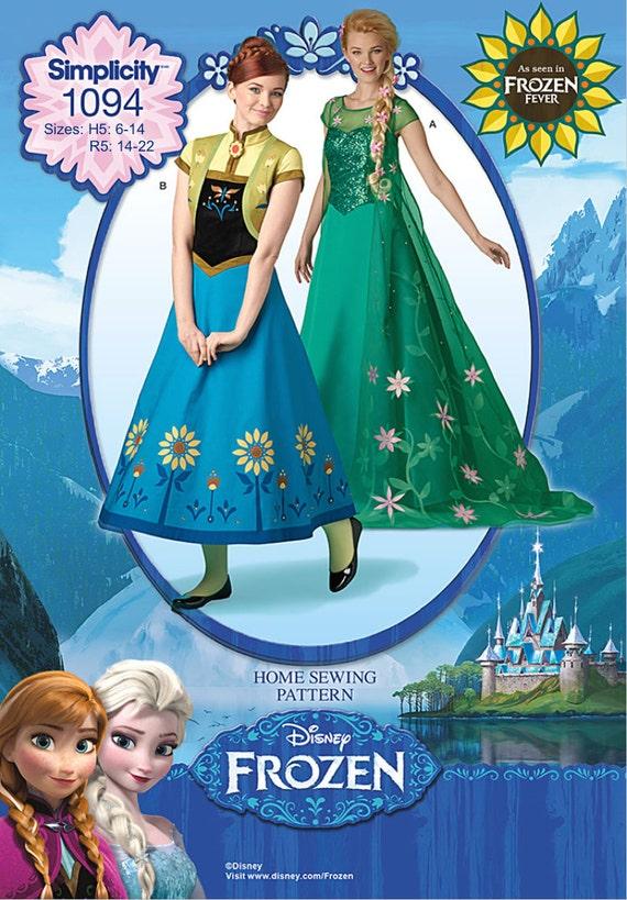 Ladies Blue Elsa Frozen Disney Princess Film Fancy Dress Costume Outfit UK 8-18