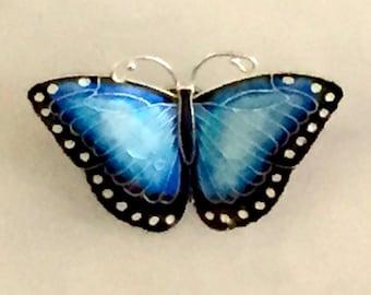 Morpho Butterfly Pin
