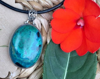 Chrysocolla Necklace ~ infused with healing Reiki