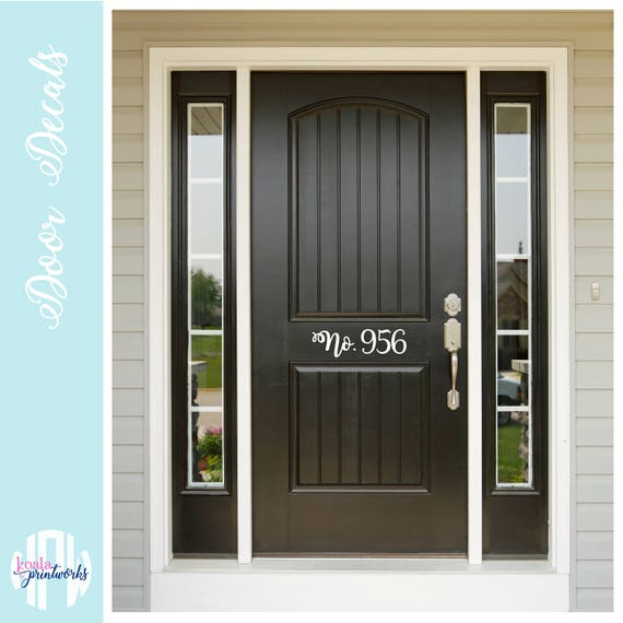 Street Number Front Door Decal | House Apartment Address Decal | House No.  | Personalized Home | House Warming Gift | Vinyl Front Door |