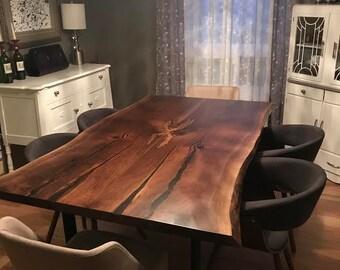 Live Edge Furniture Etsy - Custom table pads 69 usd
