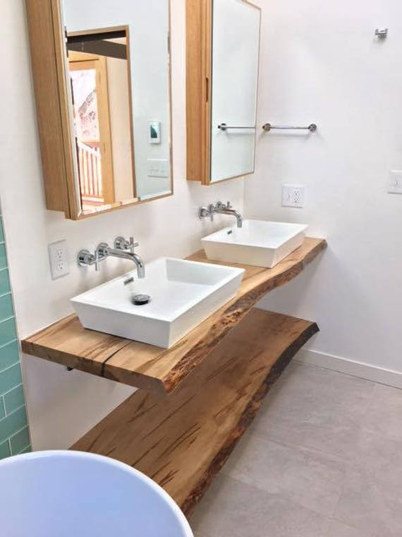 Live Edge Bathroom Counter Live Edge Bathroom Vanity Wood Etsy