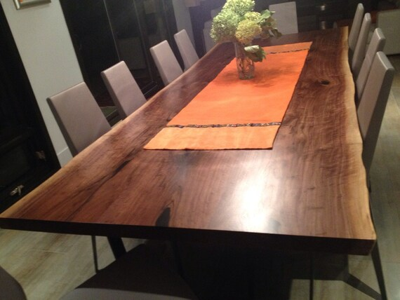 Awesome Live Edge Table Live Edge Black Walnut Harvest Table Dining