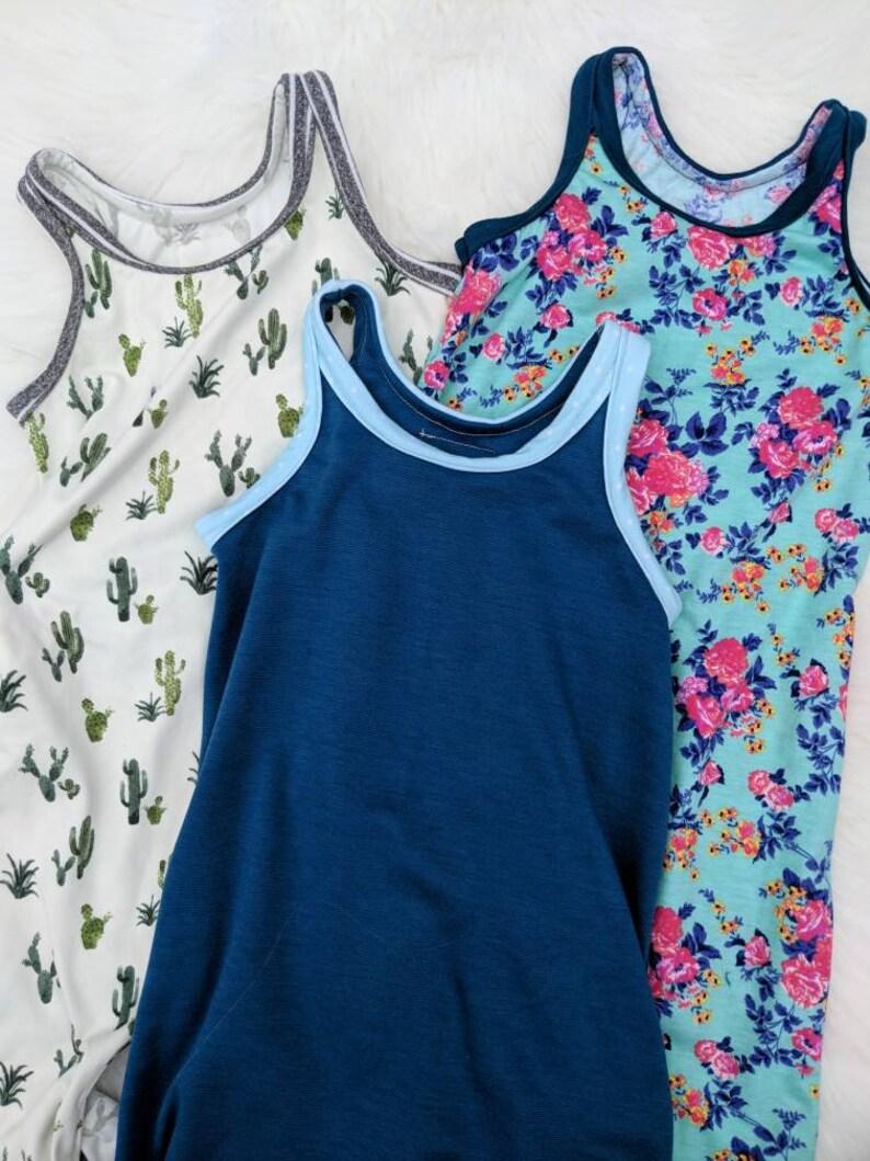 6381cdec625 Baby Romper Floral Harem Romper tank shorts Romper mint