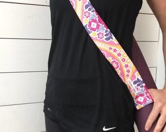 Spring Bloom Yoga Mat Strap