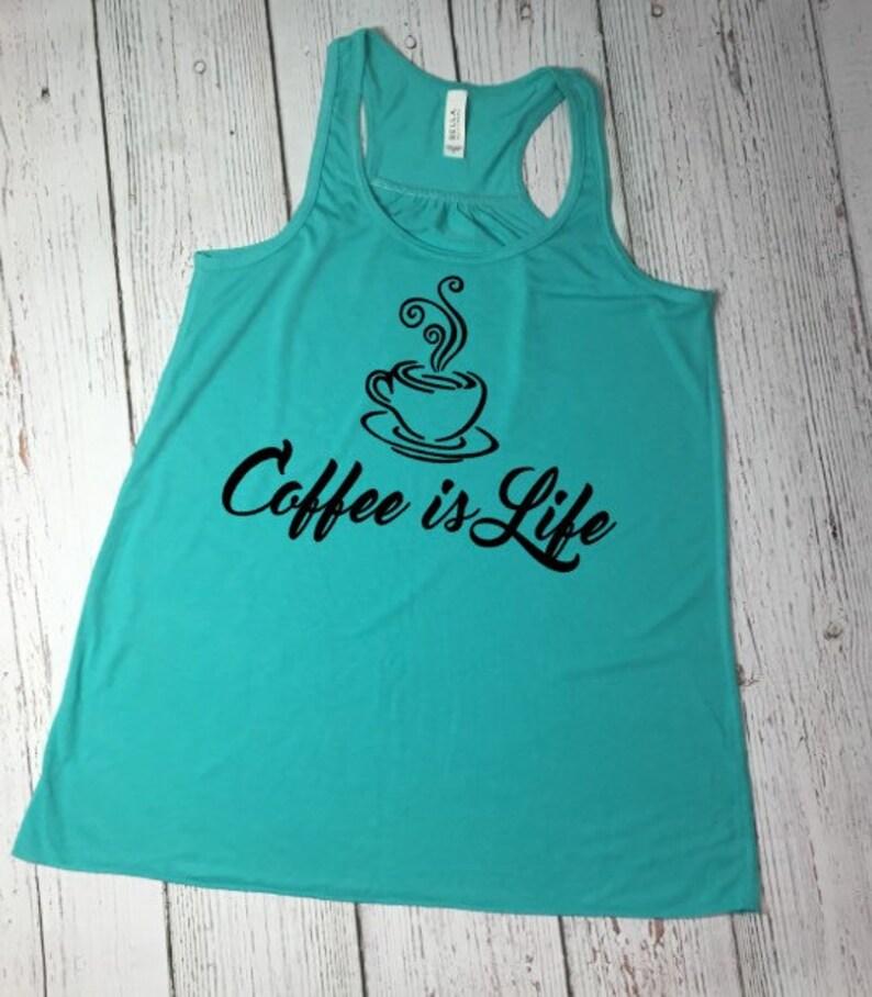 9eba46db8b52b Ladies Coffee Shirt Womens Coffee Shirt Coffee Tank Top
