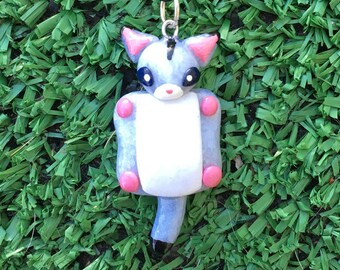 Sugar Glider Necklace Clay Animal Pendant