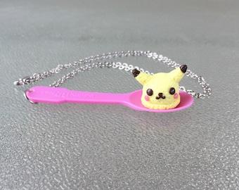 Pokemon Pikachu Ice Cream Scoop Necklace Kawaii Pendant