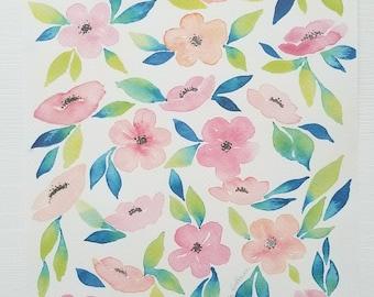 Bright Floral Watercolor Print