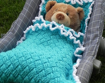 Winter Car Seat Blanket Crochet Pattern