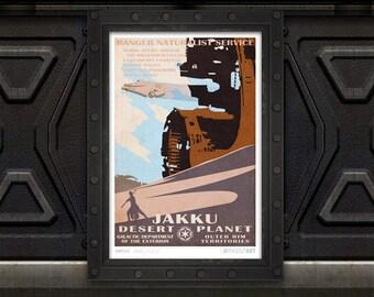 Star Wars - Jakku Travel Poster