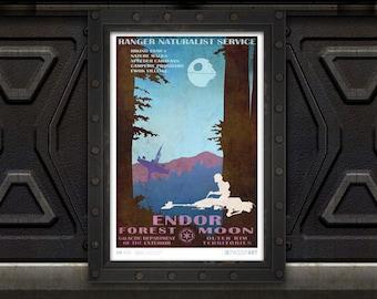 Star Wars - Endor Travel Poster