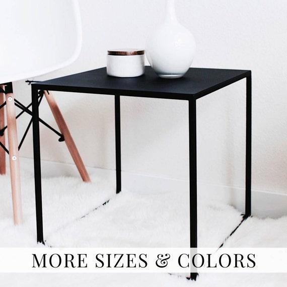 d'extrémité chevet Table Table moderne tableau côté noir Table nuit lit Table côté basse Cube Tables noirpcd2 chevet Table béquille latérale QsrdoCthxB