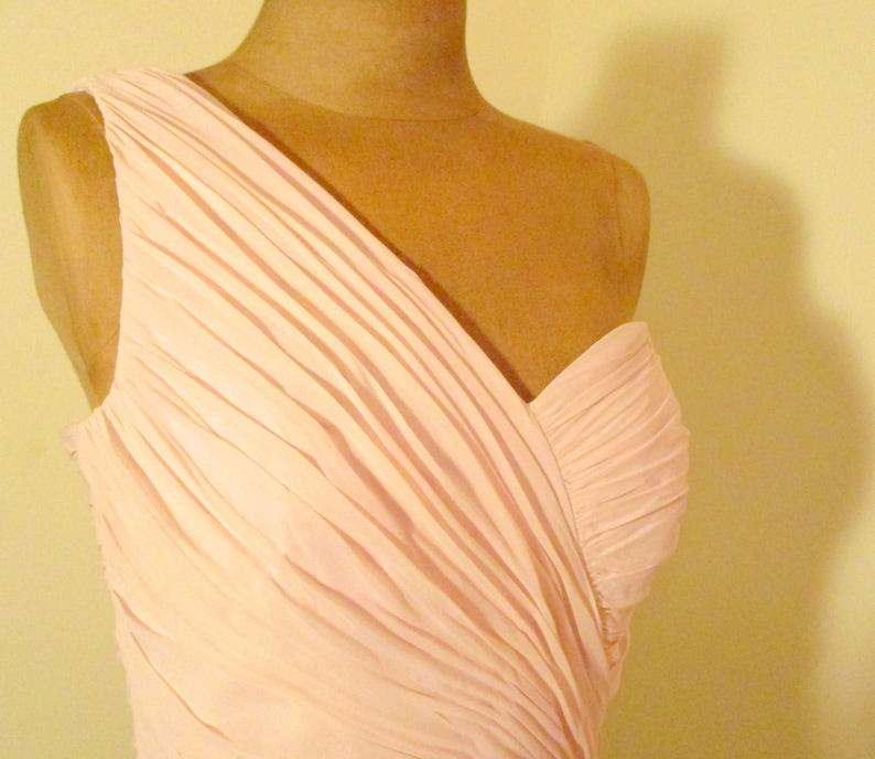 5b4970edcc761 Dessy Collection By Vivian Diamond PInk Evening Gown Roused | Etsy