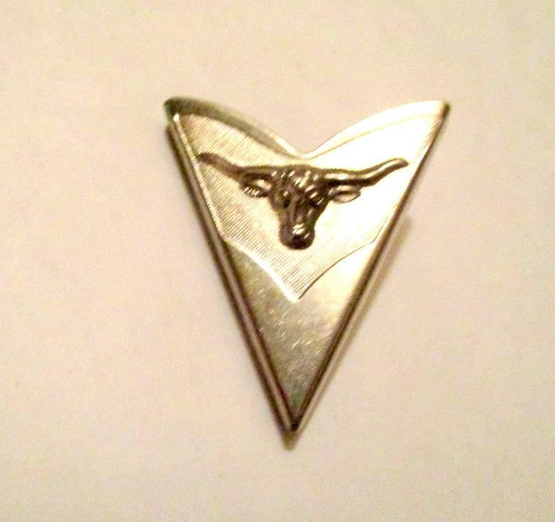 Cowboy Collar Tips Southwestern Silver Tone Long Horn Steer Collar Tips Vintage Western Collar Tabs Stays Cowboy Collar Cover
