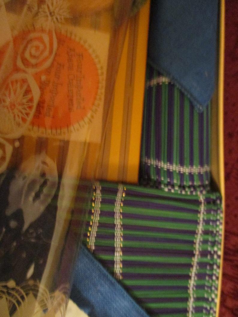 Barth and Dreyfuss California Tropical Place Mat Set Royal Terry of California NOS Original Box Mid Century Tiki Entertaining