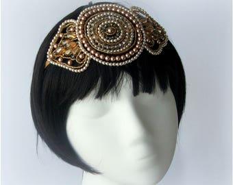 DESKEY Art Deco Wedding Headdress, Vintage Wedding Headband, Wedding Tiara, 1920's Headdress, Art Deco Wedding, Gatsby Wedding , Diadem