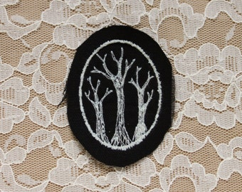 WINTER TREES embroidered folk patch