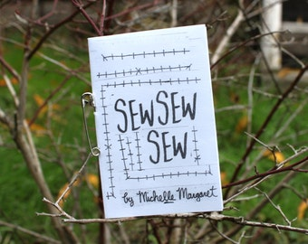 SEWSEWSEW poetry collage zine