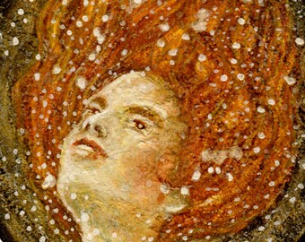 Giclee Print, Mermaid, Siren, Goddess of The Sea, Fine Art, Illustration, by Lisa Wrench