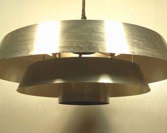 Vintage ceiling light etsy vintage mid century chrome ufo ceiling light fixture aloadofball Gallery