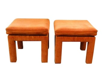 Vintage Mid Century Custom Upholstered Benches Ottomans