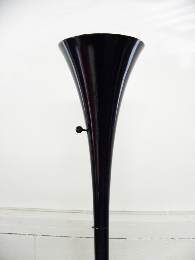 Vintage Heavy Duty Sleek Torchiere Floor Lamp