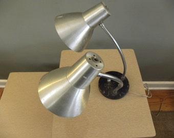 Atomic Age Mid Century Vintage Dual Head Desk Lamp