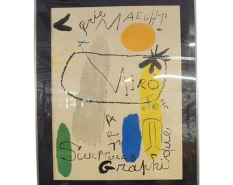 Vintage Original Miro Color Lithograph - Pencil Signed