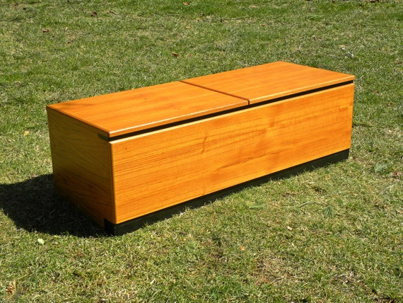Danish Teak Credenza For Sale : Vintage danish teak storage blanket chest trunk credenza etsy
