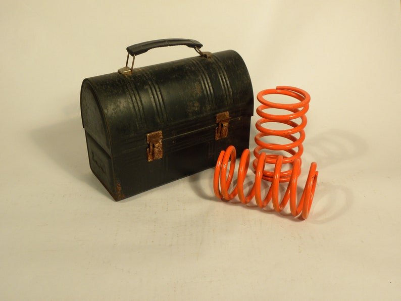 Industrial Springs Post War Industrial Salvage Lunch Pail