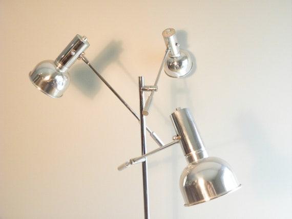 Vintage Mid Century Chrome Multi Arm Floor Lamp