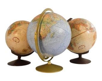 Vintage Mid Century Globe Collection -- 3 Great Vintage Globes