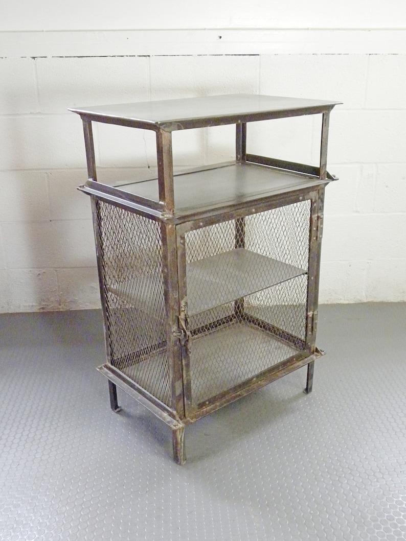 Vintage Industrial Salvage Post War Metal Cabinet Bar