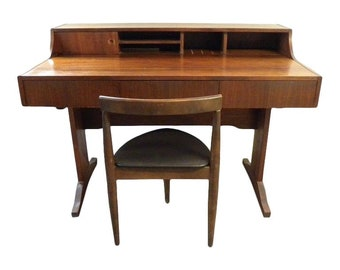 Vintage Mid Century Danish Style Desk and Chair