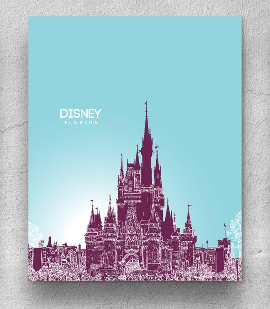Disney Florida Skyline / Home Office Skyline Art / Home
