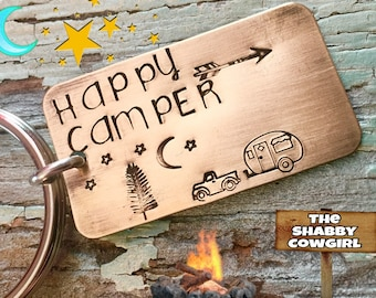 Happy Camper - Personalized keychain