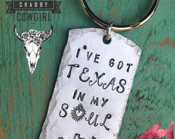 I've Got TEXAS in my SOUL - keychain