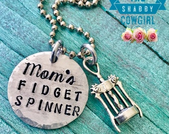 Mom's Fidget Spinner - necklace