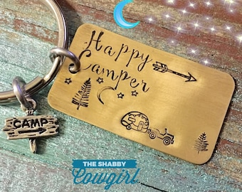Happy Camper - keychain